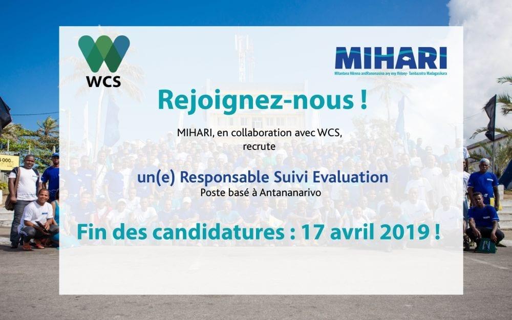 Postulez pour devenir notre Responsable Suivi Evaluation avant le 17 Avril 2019
